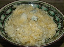 Risotto Milanese and risotto with gorgonzola and pear recipe
